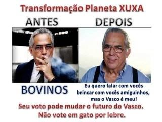 Eurico Miranda em retrato da oposição do Vasco para as eleições (Foto: Reprodução)
