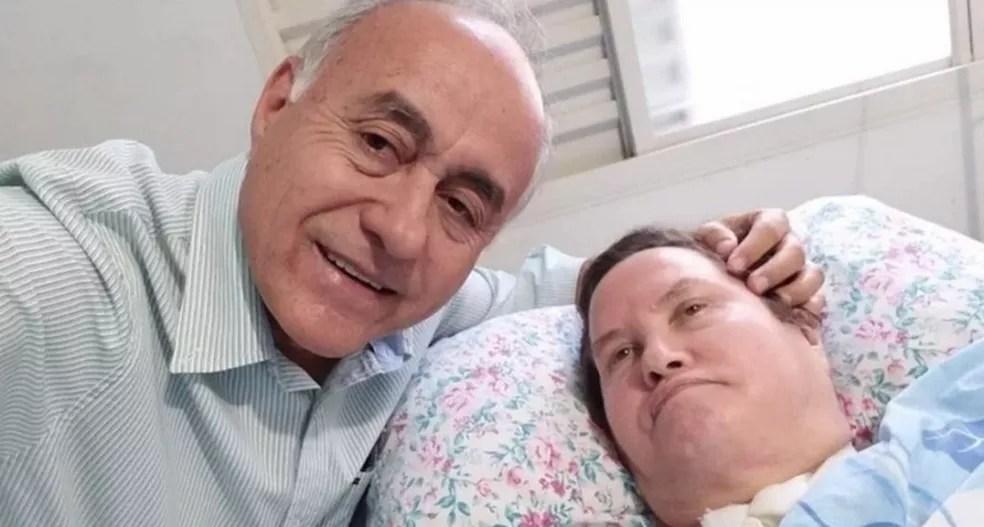 Beth Bocalom estava acamada há seis anos após descobrir que tinha uma doença neurodegenerativa — Foto: Reprodução