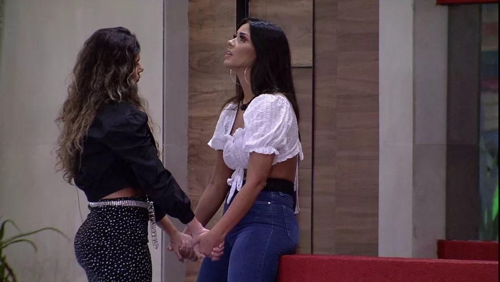 Após Eliminação de Marcela, Ivy questiona: 'O que será que está acontecendo?' — Foto: Globo