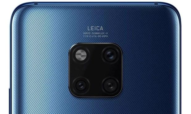 Detalhe da disposição das câmeras traseiras do Huawei Mate 20 Pro — Foto: Reprodução/WinFuture