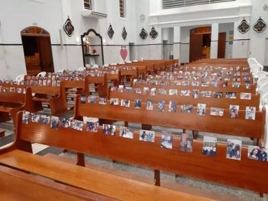 Missas presenciais foram suspensas para evitar a transmissão do coronavírus em Quintana — Foto: Arquivo pessoal/Allyson Saulo Cabrini