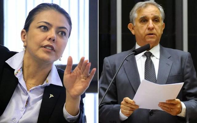 Leila do Vôlei (PSB) e Izalci (PSDB), eleitos senadores pelo Distrito Federal — Foto: Agência Brasília e Agência Câmara/Divulgação
