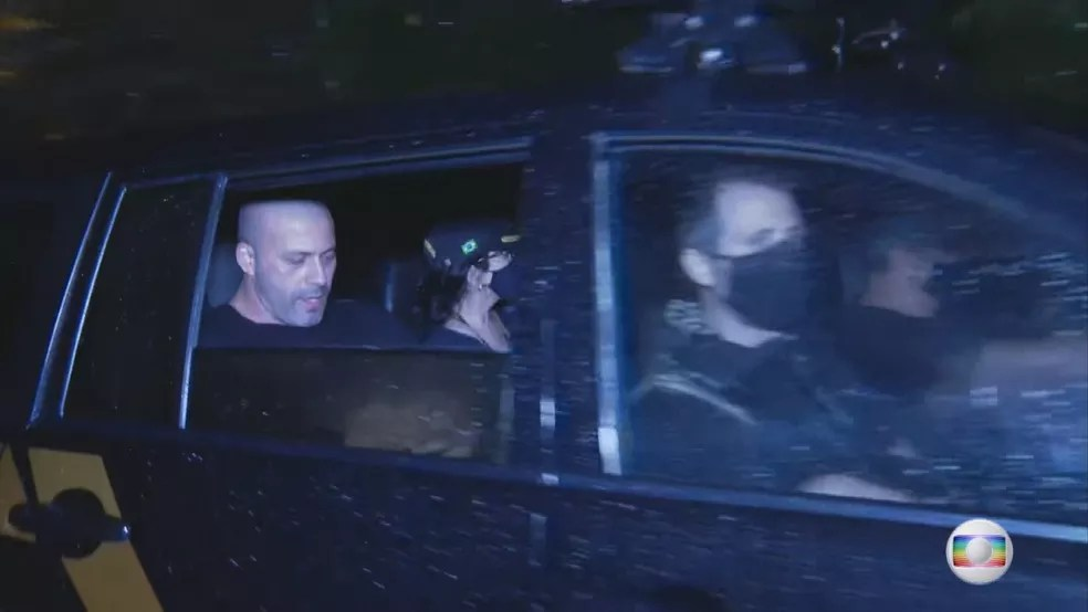 O deputado Daniel Silveira (PSL-RJ) foi preso em flagrante após vídeo em que defende o fechamento do STF, o que é inconstitucional — Foto: Reprodução/TV Globo