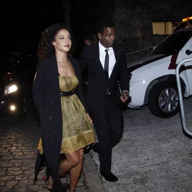 Chris Rock e Megalyn Echikunwoke (Foto: Marcos Ferreira/ BrazilNews)