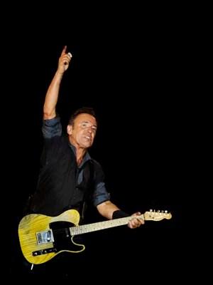 Músico americano Bruce Springsteen durante show no Rock in Rio Lisboa (Foto: Patricia de Melo Moreira/AFP)