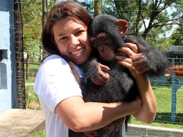 Santuário de primatas em Sorocaba (Foto: Geraldo Jr./G1)