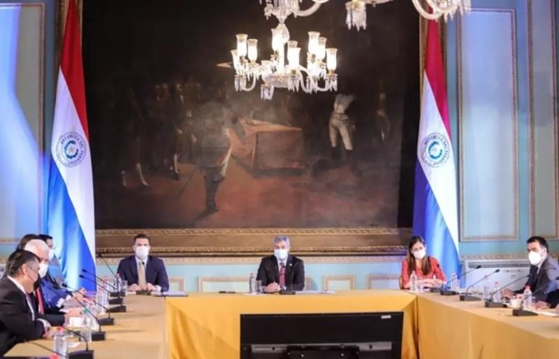Ministro paraguaio fez o anuncio no início da tarde desta quarta (13). — Foto: Ministério do Interior do Paraguai/Reprodução
