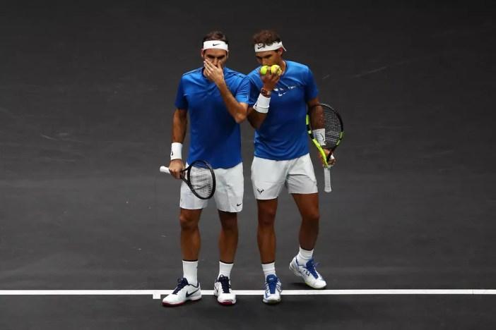Roger Federer e Rafael Nadal na Laver Cup (Foto: Clive Brunskill/Getty Images for Laver Cup)