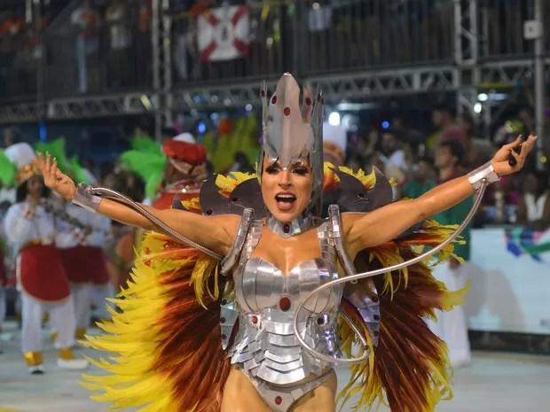 Rainha de Bateriada Jucutuquara (Foto: Bernardo Coutinha/ A Gazeta)