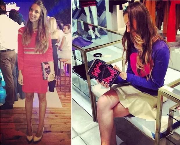 Sthela Jacintho com sua book-bag da Thelure (Foto: Reprodução/Instagram)