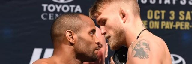 Daniel Cormier x Alexander Gustafsson encarada UFC 192 pesagem (Foto: Getty Images)
