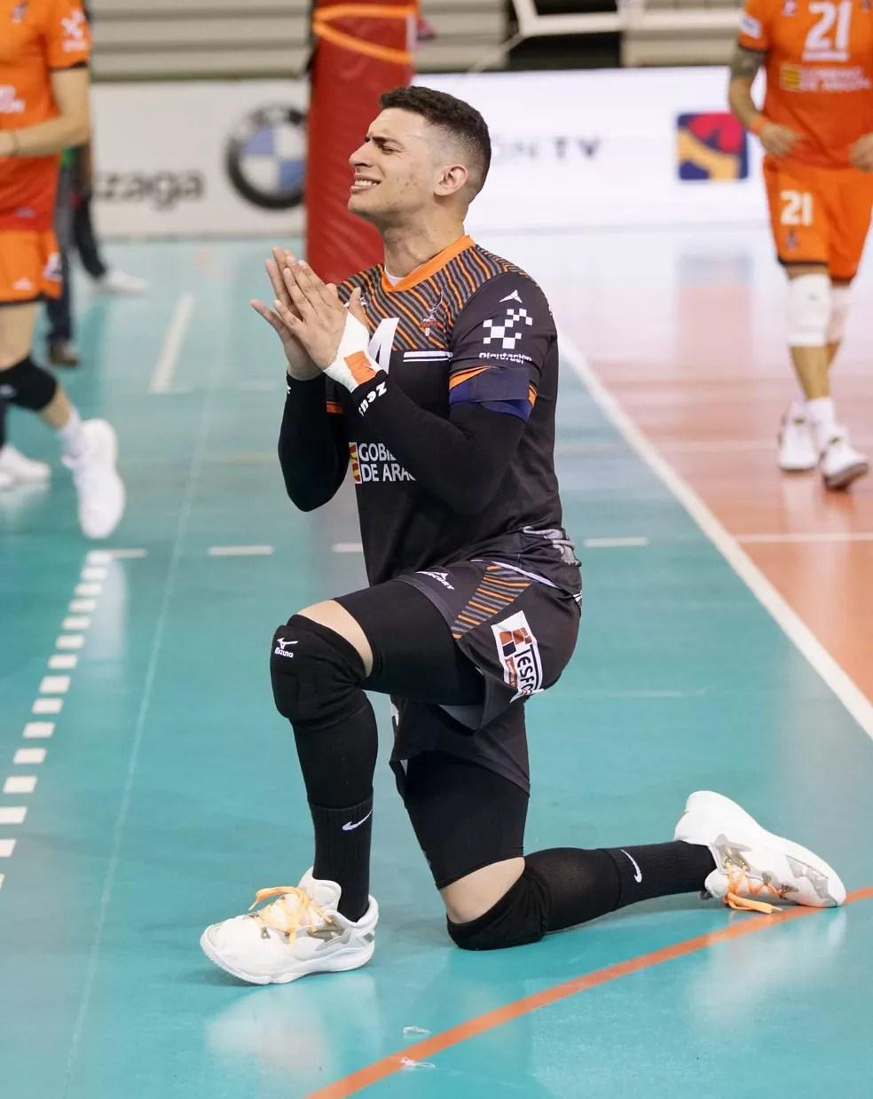 Vinicius Noronha, jogador de vôlei na Espanha — Foto: EFE