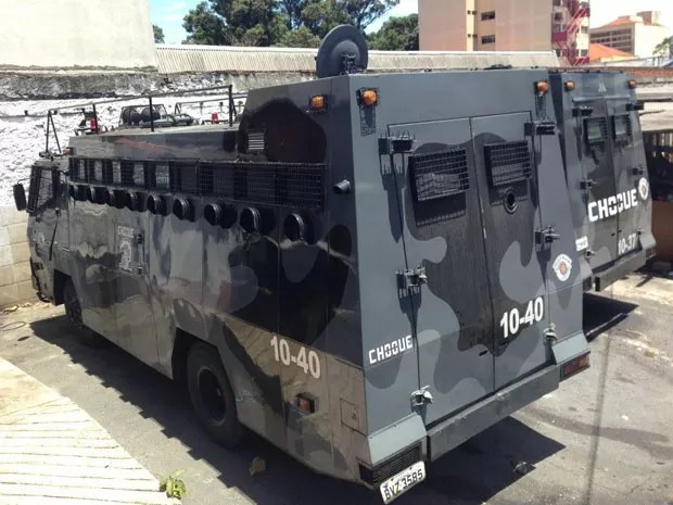 """Apelidado de """"Zé Gotinha"""", Centurion passou a transportar tropas (Foto: Kleber Tomaz/G1)"""