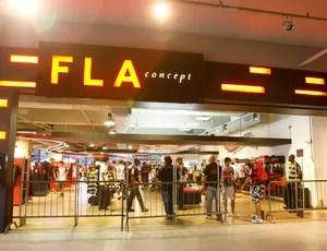 loja Flamengo grades (Foto: Marcelo de Jesus / Globoesporte.com)