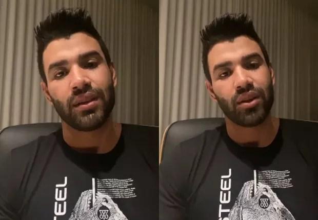 Gusttavo Lima faz vídeo após rumores de traição (Foto: Reprodução/Instagram)