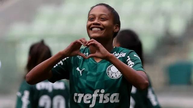 Ary Borges comemora gol do Palmeiras