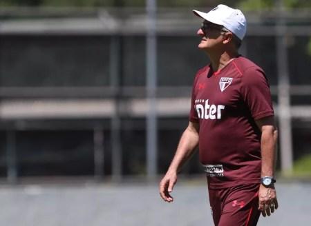 Dorival Júnior comanda o São Paulo há 17 partidas (Foto: Rubens Chiri / site oficial do SPFC)