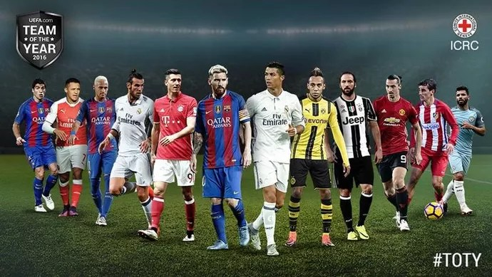 equipe do ano da Uefa (Foto: Twitter / @UEFA)