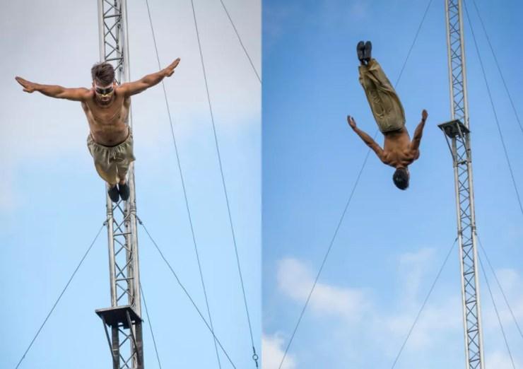 Renato em treinamento ao ar livre  (Foto: Renato Queiroz/Arquivo pessoal)