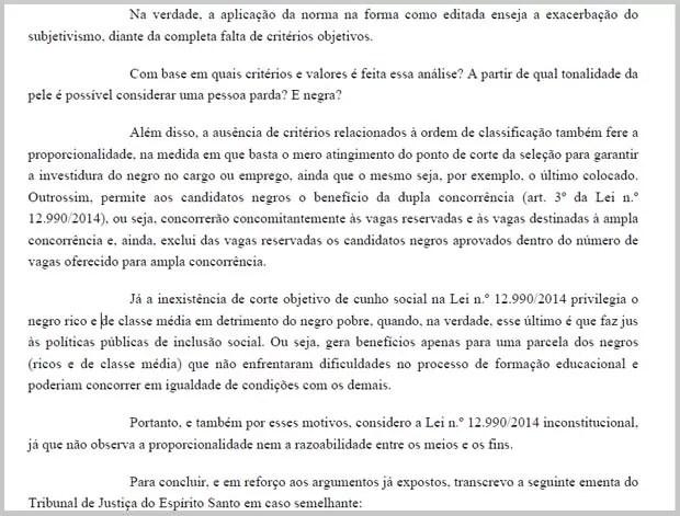 Trecho da sentença assinada pelo Juiz do Trabalho substituto Adriano Mesquita Dantas (Foto: Reprodução)