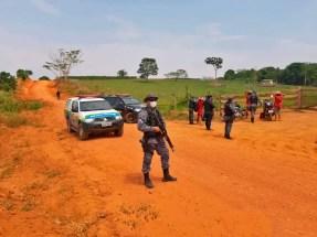 Agentes durante Operação Teminus em Rondônia — Foto: PM/Divulgação
