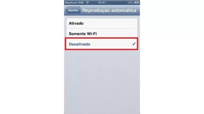 Desativando a reprodução automática de vídeos no Facebook (Foto: Reprodução/Lívia Dâmaso)