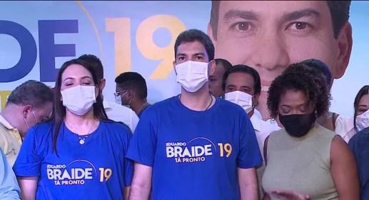 Podemos oficializa a candidatura de Eduardo Braide à prefeitura de São Luís. — Foto: Reprodução/TV Mirante