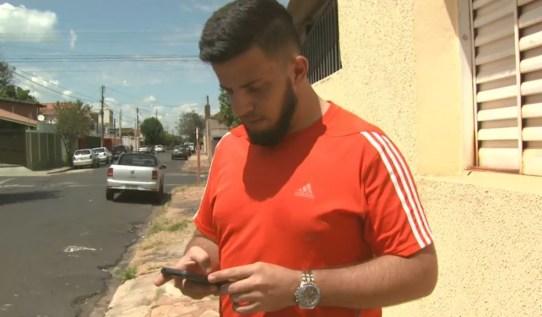 Técnico em informática chamou motorista da Uber em Araraquara (Foto: Reprodução/ EPTV)