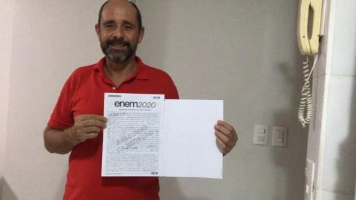 Alexandre Camilo atingiu 920 pontos na redação do Enem 2020 — Foto: Arquivo Pessoal