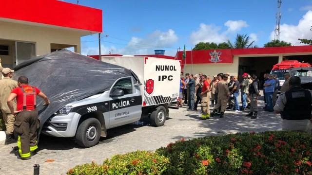 Sargento foi morto em um quartel do Corpo de Bombeiros Militar da Paraíba, localizado em João Pessoa — Foto: Walter Paparazzo/G1