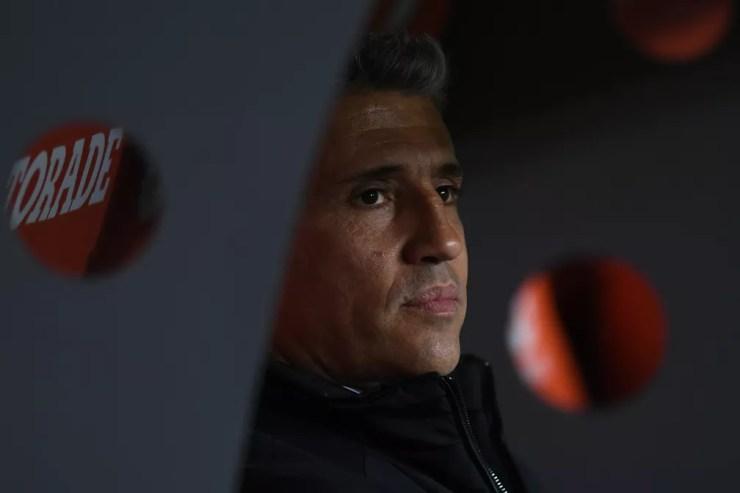 Hernan Crespo em Racing x São Paulo — Foto: Staff images /CONMEBOL