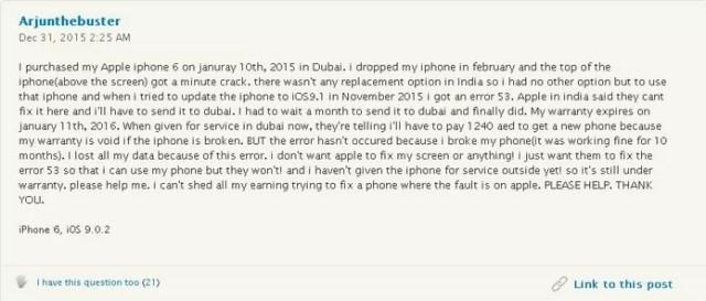Erro 53 no iPhone: entenda o que é e suas consequências