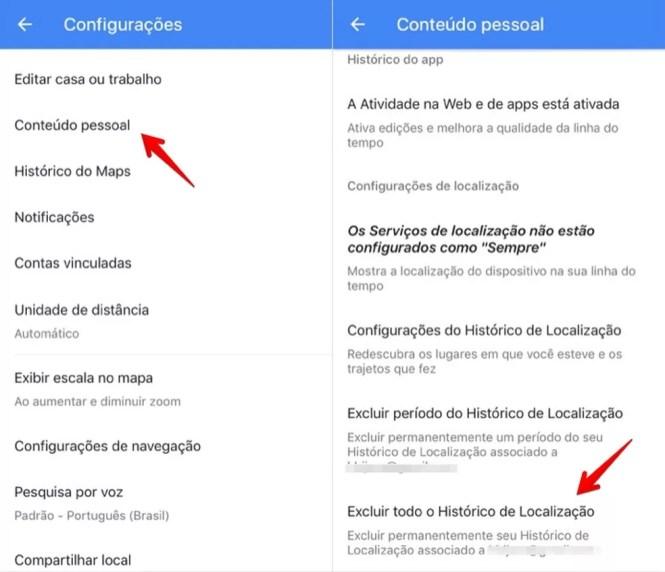 Acceder a su configuración personal en Google Maps (Foto: Reproducción / Helito Bijora)
