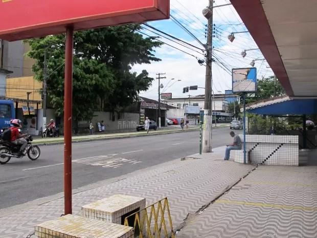 Tentativa de assalto aconteceu na avenida Nossa Senhora de Fátima (Foto: Orion Pires / G1)