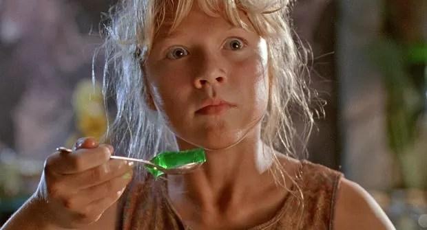 Ariana Richards em cena do filme 'Jurassic Park: O Parque dos Dinossauros' (1993) (Foto: Divulgação)