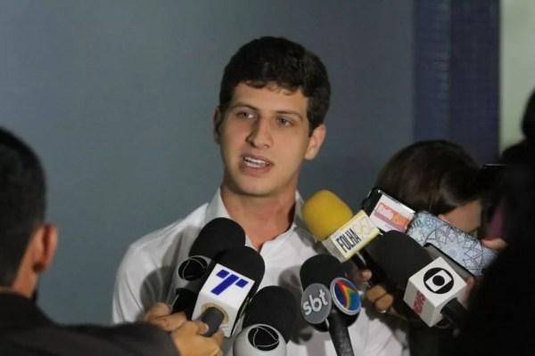 Filho de Eduardo Campos, João Campos falou sobre as hipóteses apresentadas pela PF com relação às causas do acidente aéreo — Foto: Marlon Costa/Pernambuco Press