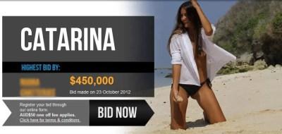 Até as 13h desta terça (23), lances chegavam a U$S 450 mil (Foto: Virgins Wanted/Divulgação)