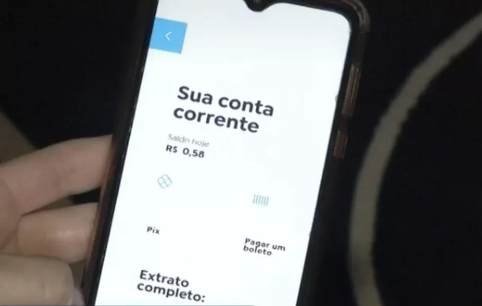 Mulher perde R$ 65 mil após cair no golpe do PIX, em Luziânia — Foto: Reprodução/TV Anhanguera