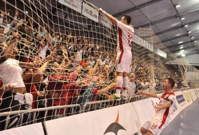 Falcão Sorocaba Floripa liga nacional de futsal (Foto: Danilo Camargo/Divulgação)