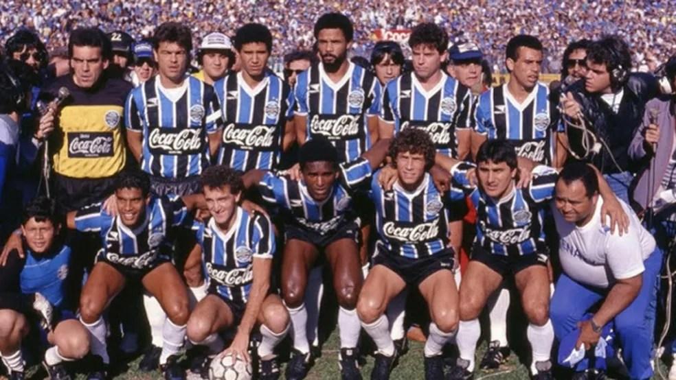 O time do Grêmio campeão da Copa do Brsail de 1989 — Foto: Divulgação