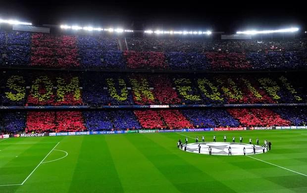 Torcida do Barça, Barcelona x Milan (Foto: AFP)