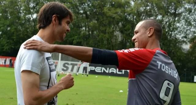 Kaka Luis Fabiano São Paulo (Foto: Site oficial do SPFC)