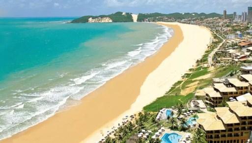 """""""Maquete"""" mostra como ficará a praia de Ponta Negra, após aterramento — Foto: Cedida/Prefeitura de Natal"""
