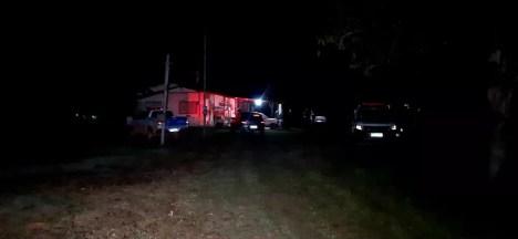 Casa onde ocorreu o crime, em Porto Velho — Foto: WhatsApp/Reprodução