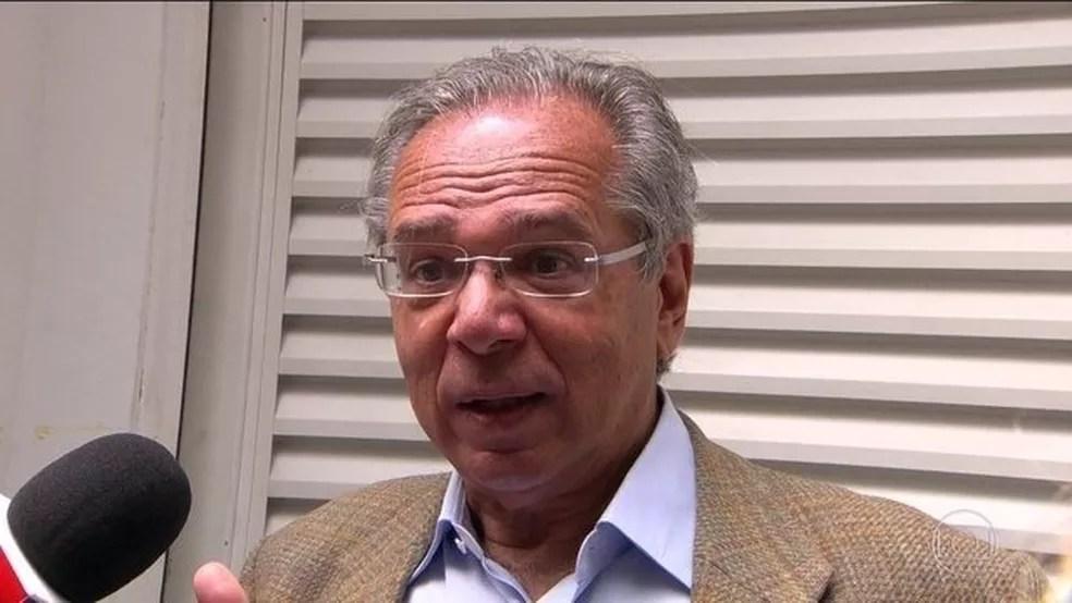 Futuro ministro da Economia, Paulo Guedes tem interesse na aprovação do projeto de autonomia do BC — Foto: Reprodução/JN