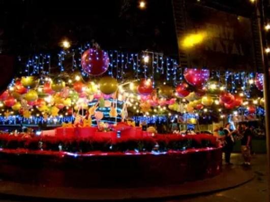 Base do 'Pinheirão' também é enfeitado para o Natal (Foto: Thony Guedes/ Prefeitura Tatuí)