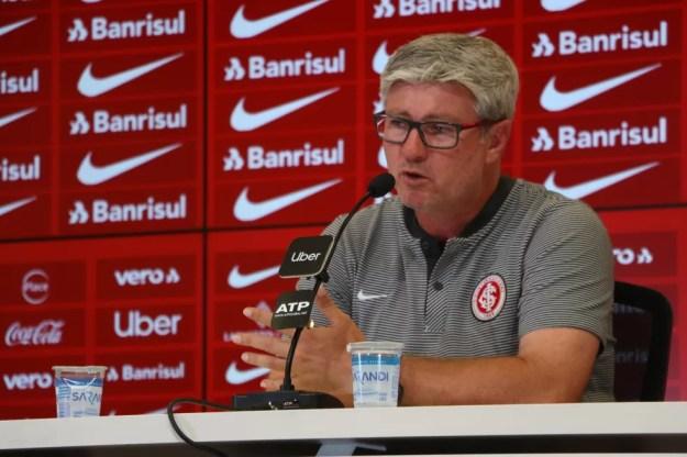Odair Hellmann entendeu que o Inter mereceu o placar de 2 a 0 sobre o América-MG — Foto: Eduardo Deconto