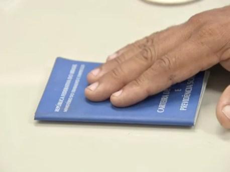 Carteira de trabalho, ministério do trabalho (Foto: Reprodução/TV Verdes Mares)