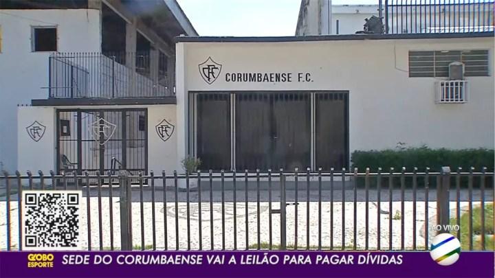 Sede do Corumbaense vai a leilão para pagar dívida com ex-jogador do clube, em MS — Foto: TV Morena/Reprodução