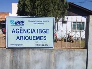 IBGE emitiu nota para alertar população de Ariquemes (Foto: Franciele do Vale/ G1)